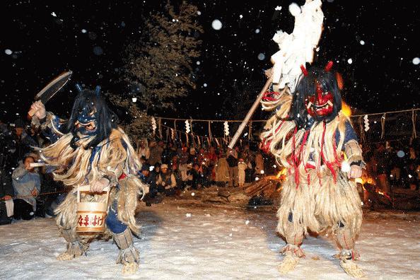 Quỷ nhảy múa trong lễ hội (Ảnh: jnto.go.jp)