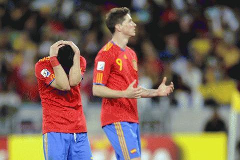 Tây Ban Nha buồn. Ảnh: Getty