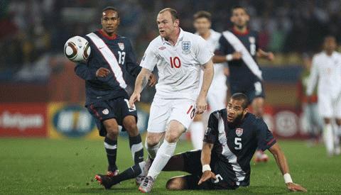 Rooney mờ nhạt trước Mỹ. Ảnh: Getty Images