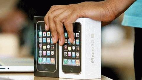 iPhone 3G đã tiêu thụ hết và các nhà mạng đang chờ phân phối iPhone 4. Ảnh minh hoạ.