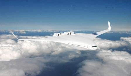 Máy bay H thân cánh lai tạo.