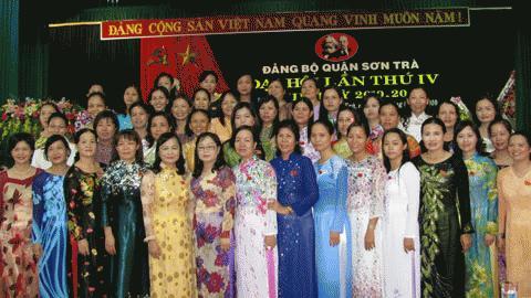 Đại biểu nữ tại Đại hội Đảng bộ quận Sơn Trà, Đà Nẵng ngày 5/8. Ảnh: Khánh Linh