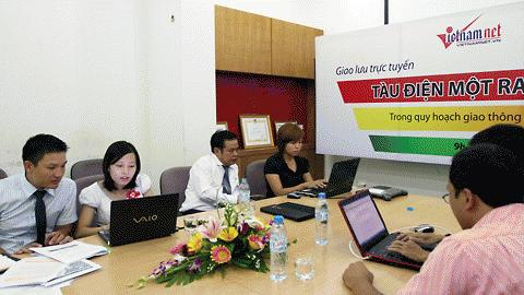 Nên hay chưa nên triển khai Tàu điện 1 ray ở đô thị Việt Nam? - Giao lưu trực tuyến giữa các chuyên gia về GTĐT với bạn đọc Vietnamnet. Ảnh: Lê Anh Dũng