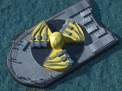 Thiết kế của nhà máy điện nguyên tử nổi ở Nga.