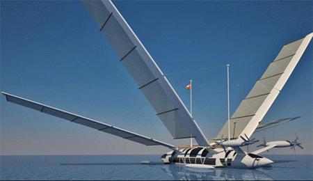 Hệ thống cột buồm di động cho phép cánh trượt dễ dàng