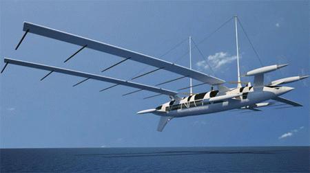 Du thuyền cất cánh trên bầu trời
