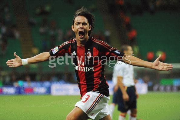 Inzaghi ấn định chiến thắng ngọt ngào. Ảnh: Getty