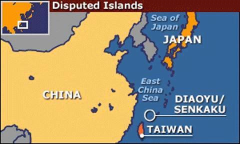 Các vụ va chạm giữa tàu cá Trung Quốc và hai tàu tuần tra Nhật xảy ra gần quần đảo Điếu Ngư/Senkaku giữa hai nước. (Ảnh: BBC)