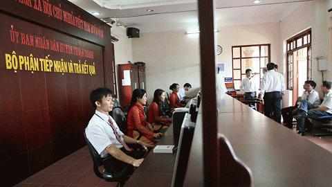 Theo quy định của UBND tỉnh Bắc Ninh, bộ phận một cửa chỉ cần 5 cán bộ phục vụ.