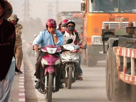 Ô nhiễm bụi ở thành phố làm tăng nguy cơ bệnh tim. Ảnh: Extinctearth.org