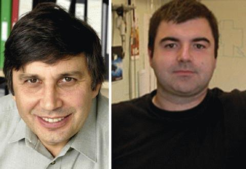 Andre Geim và Konstantin Novoselov.