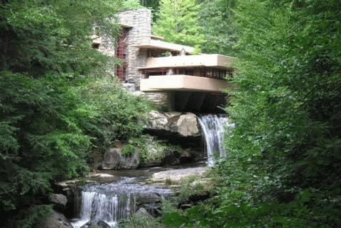 Nhà thác nước ở Mill Run, bang Pennsylvania, Mỹ.