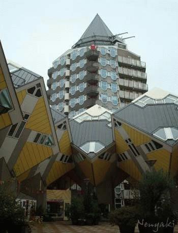 Các nhà lập phương ở Rotterdam,  Hà Lan.