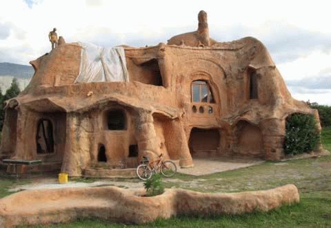 Nhà đất nung ở Colombia.