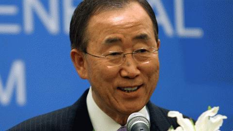 Tổng thư ký Liên hợp quốc Ban Ki-moon. Ảnh: Trường Sơn