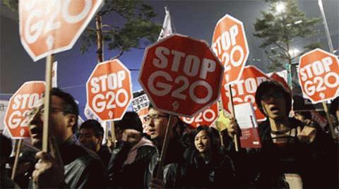 Hàng nghìn người xuống đường phản đối G20