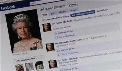 Nữ hoàng Anh tham gia Facebook và lập tức trở nên hot