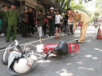 Hiện trường vụ tai nạn (Ảnh: LĐO)