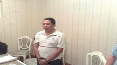 Nhà báo Phan Hà Bình tại thời điểm bắt giữ (Ảnh: VietNamNet)
