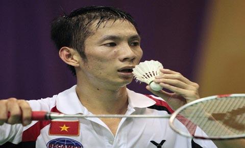 Nguyễn Tiến Minh trong trận đấu với tay vợt Parupalli Kashyap. Ảnh: Getty