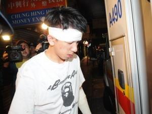 Nạn nhân bị cướp iPhone 4 tối 18/11 ở Hongkong.